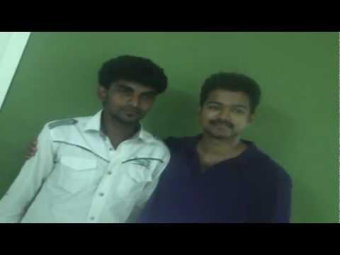 Vijay With his Die Hard Fan Arul   Thalaiva First Look Teaser   Vijay Latest Interview   Thupakki