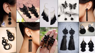 Hot Black!!.. 11 Fashion DiY Earrings - On Party Wear Outfits