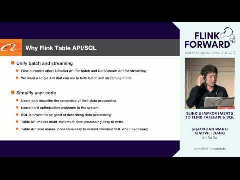 #FlinkForward SF 2017: Shaoxuan Wang & Xiaowei Jiang - Blinks Improvements to Flink SQL And TableAPI