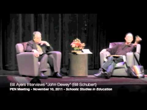 """Bill Ayers interviews """"John Dewey"""" (Bill Shubert) at the 2011 PEN Meeting, part 7/9"""