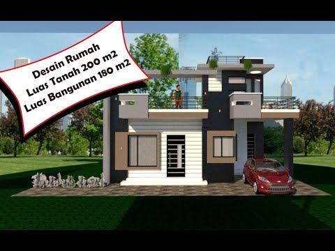 desain rumah luas tanah 200 m2 - sekitar rumah