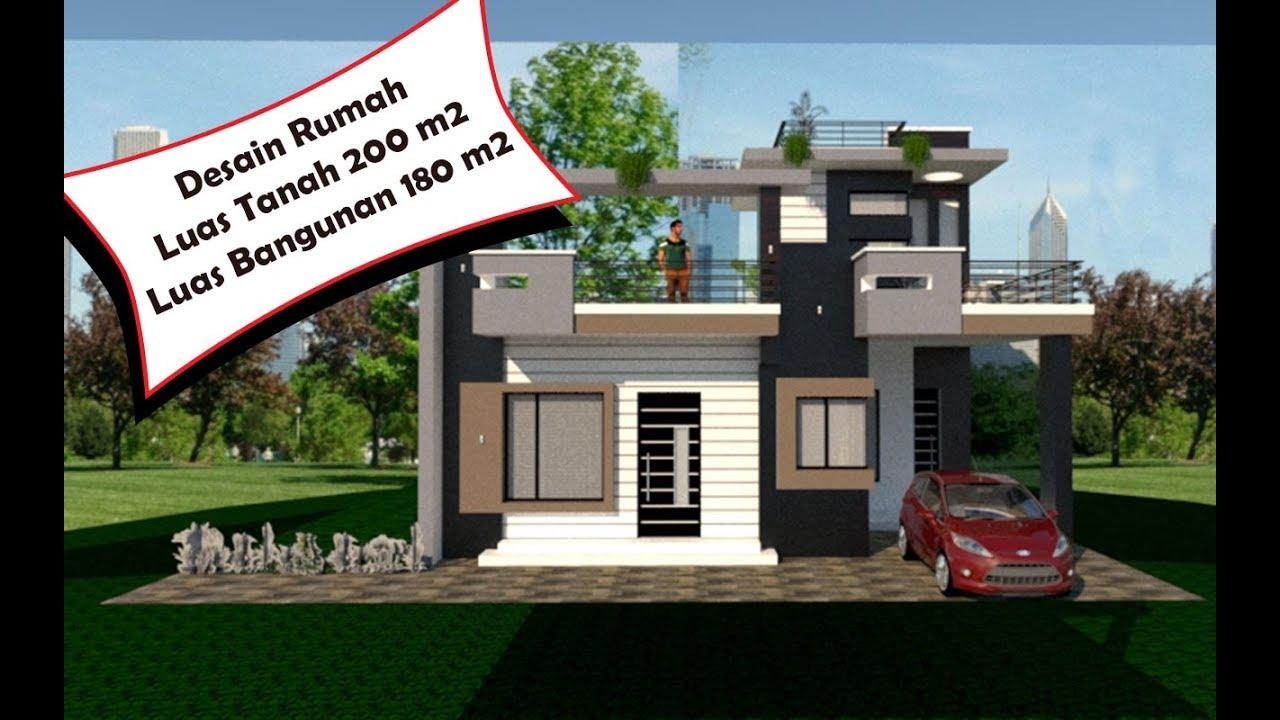 Rumah Luas Tanah 200 M2 Luas Bangunan 180 M2 Youtube