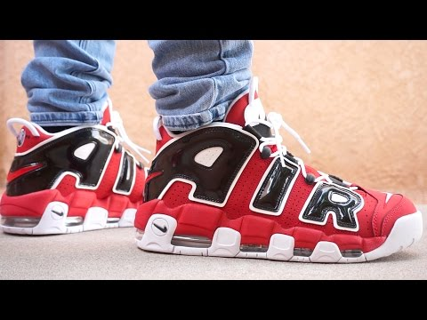 NIKE AIR MORE UPTEMPO 2017 EARLY UP CLOSE ON FOOT LOOK!!!
