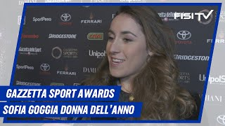Sofia Goggia ai 'Gazzetta Sports Awards'