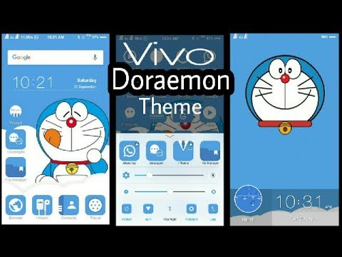VIVO Phone Theme : Doraemon (Blue Edition)