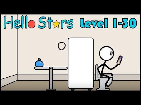 Hello Stars - 3 Star Gameplay walkthrough - All Levles 1-30 Brain Game