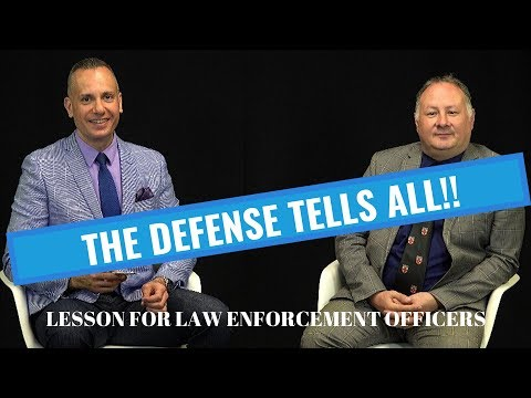 Secrets From The Defense For Law Enforcement Officers! How To Testify In Court!