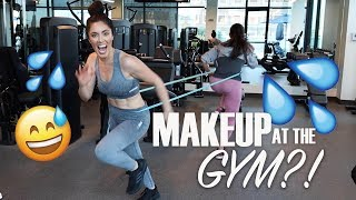 Testing Waterproof Setting Sprays at the Gym with Maryam | Melissa Alatorre