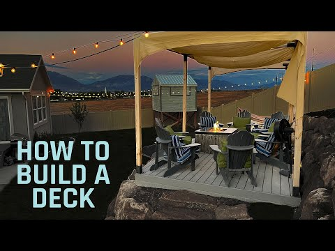 How To Build A Ground Level Deck - DIY Floating Deck