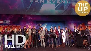 Avengers Infinity War premiere screen presentation Tom Hiddleston, Benedict Cumberbatch, Tom Holland