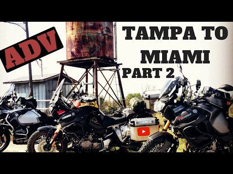 WILD CAMPING Motorcycle Tampa to Miami ADV p2