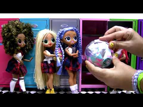 LOL OMG Dolls School Locker Surprise Disco Ball unboxing Lils and more