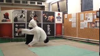 Ushiro katate kubijime jujigaraminage [TUTORIAL] Aikido advanced empty hand technique
