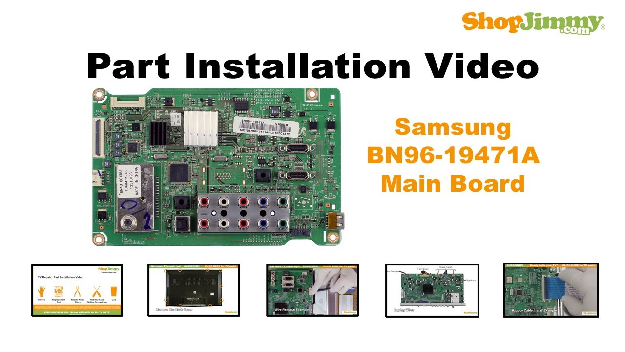 Samsung TV PN51D450A2DXZA No Picture How to Replace the Main Board ...