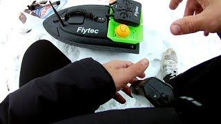 Flytec распаковка прикормочного кораблик С Китая! +Испытание в месте с Эхолот LUCKY   при (-7°С)