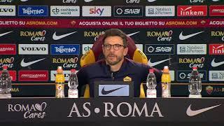 """Conferenza Di Francesco: """"Dzeko deve solo sbloccarsi. Come trequartista giocherà Perotti o Defrel"""""""