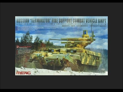 "Meng 1/35 Russian ""Terminator"" Fire Support Combat Vehicle BMPT Scale Model Review"