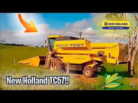 Colheitadeira Tc 57 Hidro Plus Colhemdo Milho!!