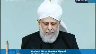 KHUTBA JUMA FROM NORWAY NEW MOSQUE 30-9-2011 PERSENTING KHALID QADIANI_clip4.flv