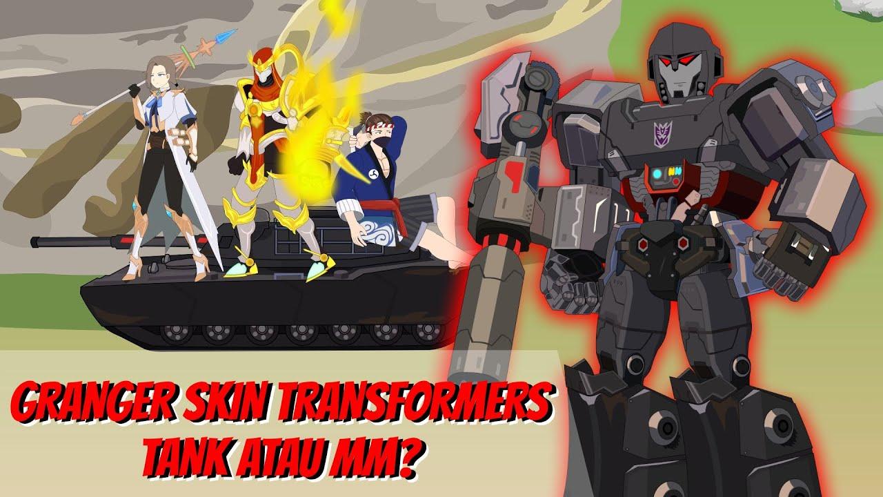 MOBILE LEGENDS ANIMATION   GRANGER SKIN TRANSFORMERS TANK ATAU MM