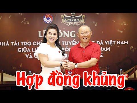 Quang Hải - Tuấn Anh Chứng Kiến VFF Ký Hợp đồng Khủng Với King Coffee