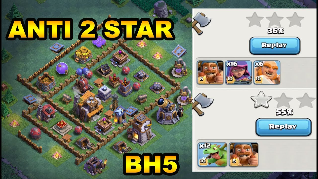 Best Builder Hall 5 Bh5 Anti 2 Star Base With Proof