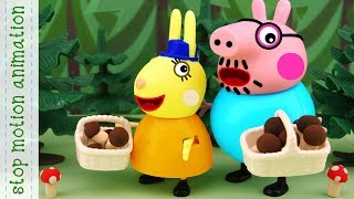 Walk to the forest.  Peppa pig toys stop motion animation english episodes 2018