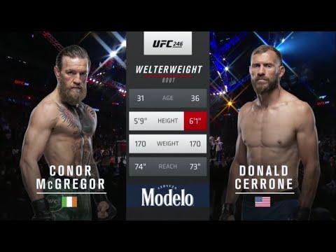 UFC 246: McGregor vs Cowboy - Free Fight