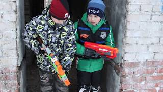 Нёрф БИТВА на Русском;Подрыв Завода3:Nerf  The Undermining Of The 3