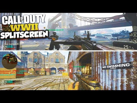 HOW TO SPLIT SCREEN On COD WW2 MULTIPLAYER, ZOMBIES & LOCAL PLAY On PS4 & XBOX ONE! (COD WWII)