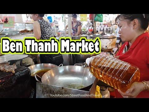 Vietnamese Food in Ben Thanh Market - Vietnam Travel - Ho Chi Minh city