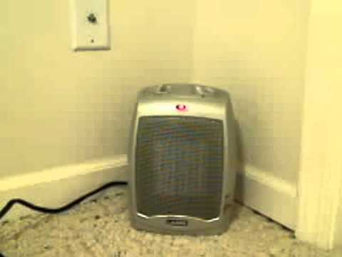754200 Ceramic Heater With Adjustable Thermostat.flv