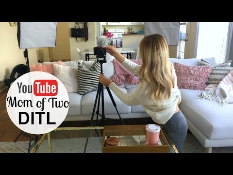 DAY IN THE LIFE OF A YOUTUBE MOM OF TWO | Behind the Scenes