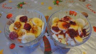 Простой и быстрый фруктовый десерт. A simple and quick fruit dessert.