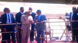 السيسي على اليخت الرئاسي المحروسة فى أفتتاح قناة السويس الجديدة
