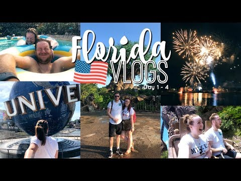 FLORIDA VLOGS 2018 | WALT DISNEY WORLD & UNIVERSAL STUDIOS 🎢 DAY 1 - 4 | Brogan Tate AD