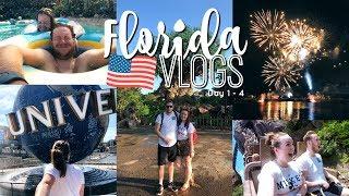 FLORIDA VLOGS 2018 | WALT DISNEY WORLD & UNIVERSAL STUDIOS 🎢 DAY 1 - 4 | Brogan Tate AD