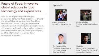 Future of Food: Innovative global solutions in food technology and experiences