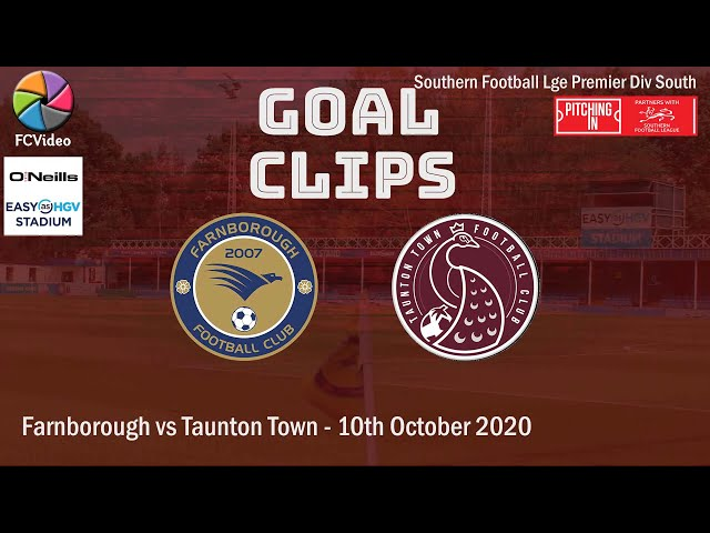 2020-10-10 | Farnborough vs Taunton Town | Goal Clip