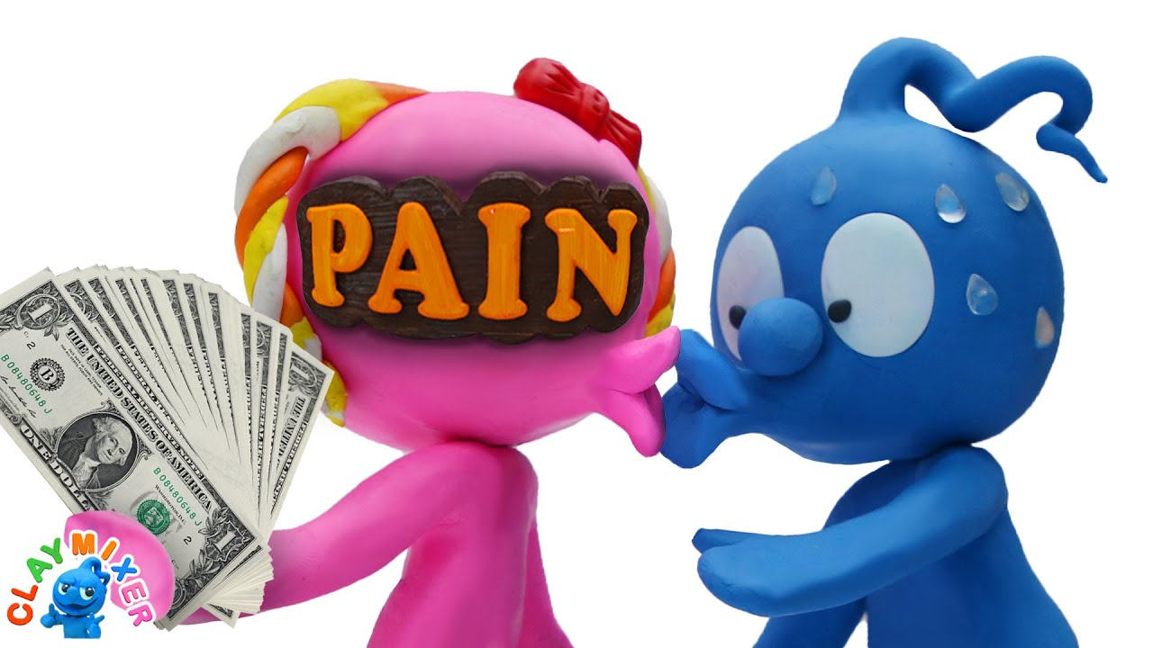 Money Unmasks Pain - Clay Mixer Stop Motion Animation