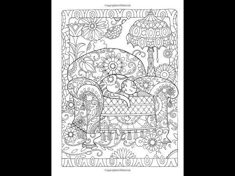 CAT IN THE CHAIR / КОТ В КРЕСЛЕ РАСКРАСКА-АНТИСТРЕСС - YouTube
