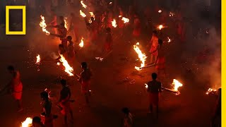Watch a Hindu Fire-Throwing Festival   National Geographic thumbnail