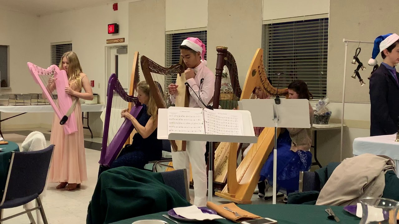 Christmas Harp Ensemble & Bell Choir performance