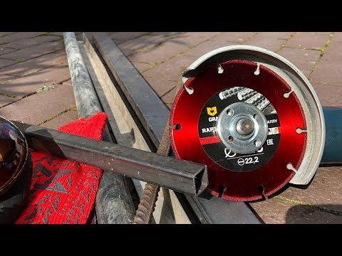 500 резов одним отрезным кругом по металлу. Нереально крутой диск Raptor от GRAFF