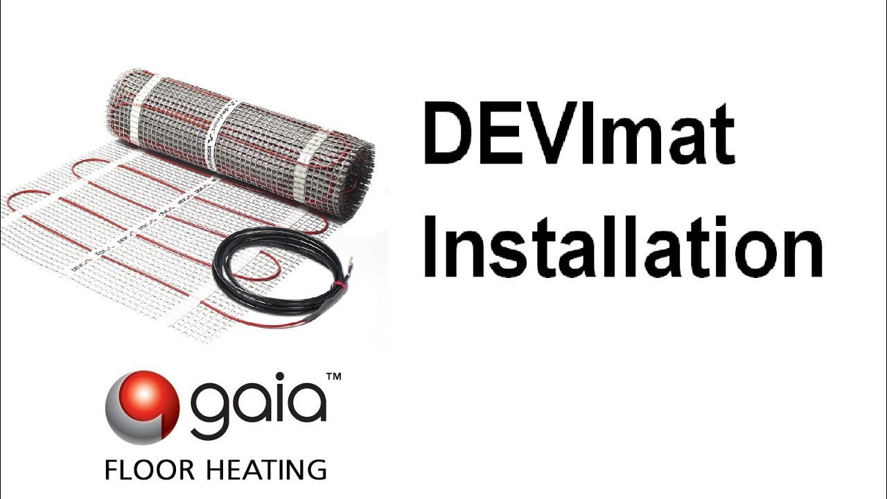 small resolution of step by step guide of devimat installation youtube devimat wiring instructions devimat wiring instructions