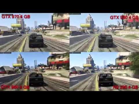 GTX 980 Vs 970 Vs 960 Vs R9 290 GTA V Benchmark