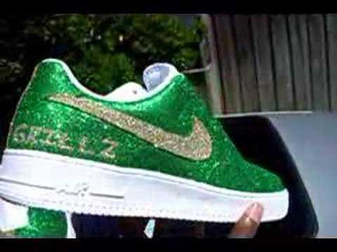 Green Glitter Tennis Shoes