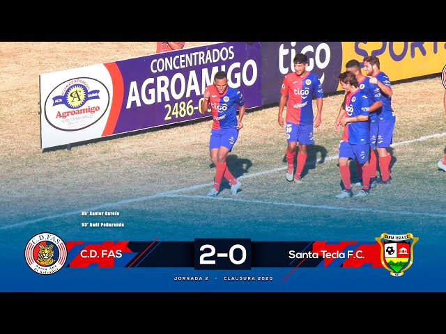 Resumen | FAS 2-0 Santa Tecla | Jornada 2 - Clausura 2020