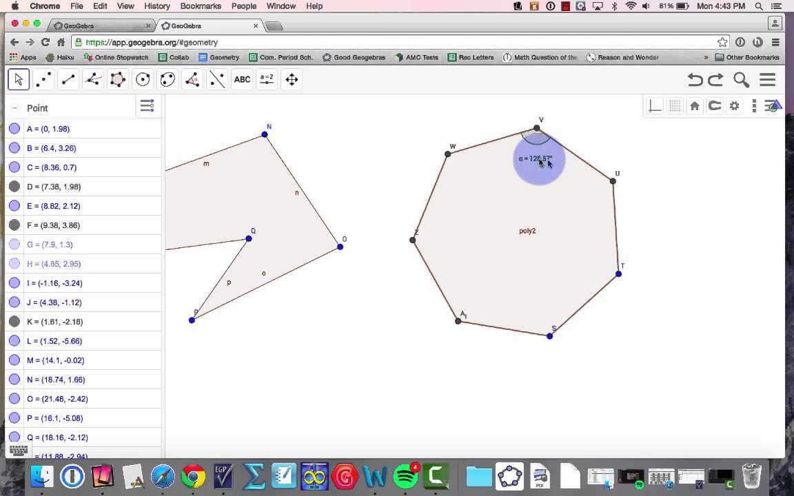 Geogebra Skills