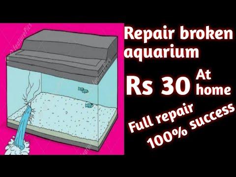 Repair Broken Aquarium Glass |DIY King|